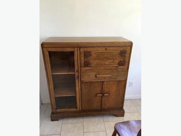 oak fall front desk dresser