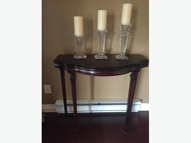Table and candle holders with candles