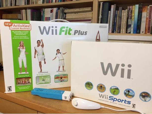 Wii Sports, Wii Fit Plus and extra controllers