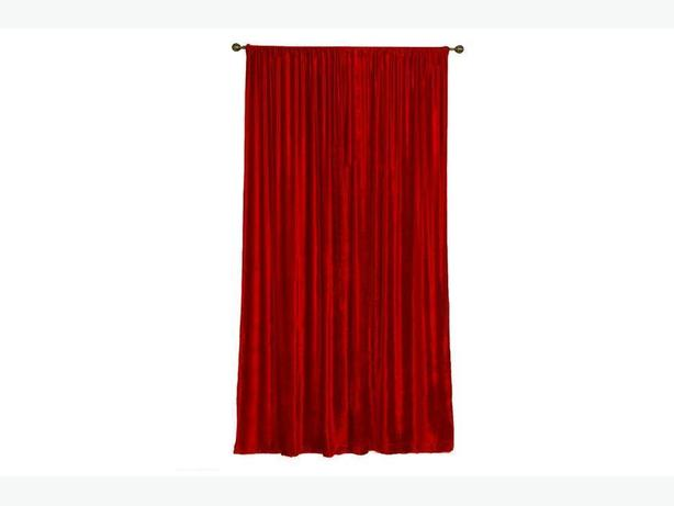 "2 PANELS BRAND NEW CRANBERRY CURTAINS: EA 58"" Wide(116"" Total) by 60"" LONG"