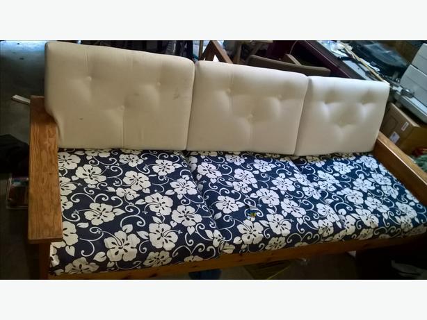 nice wood sofa