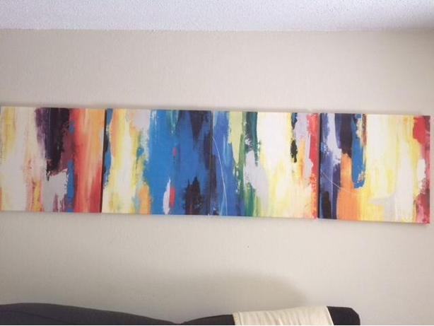 4 piece art-deco painting