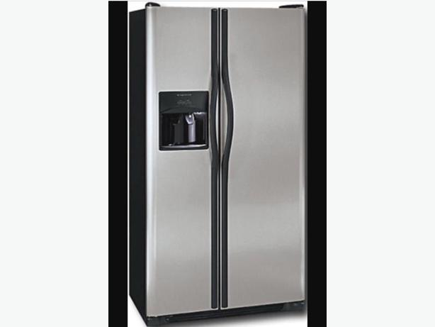 Frigidaire side by side with water and ice