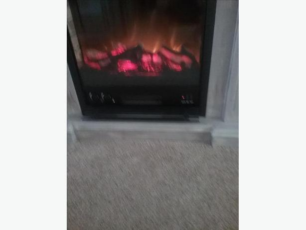 Electric Fireplace & surround