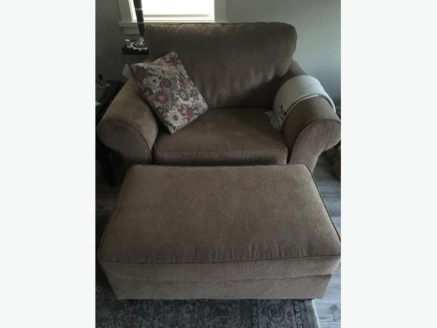 Chair and half, ottoman, loveseat