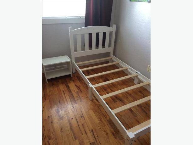 Bed frame and side table