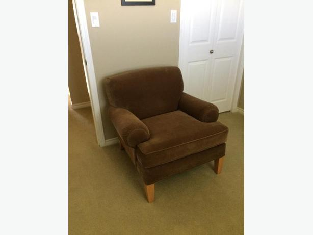 tan fabric chair