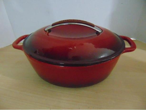 Cast Iron Roasting Pan Kitchen Aid Red Fantastic Quality