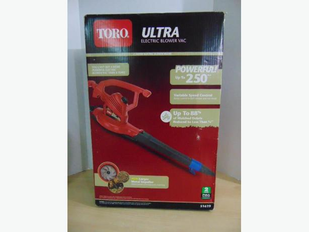 Toro Ultra Blower/Vac, Red, 250mph New Sealed In Box Retail 119.99
