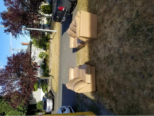 FREE: Leather Sectional