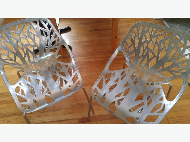 Two tree branch chairs