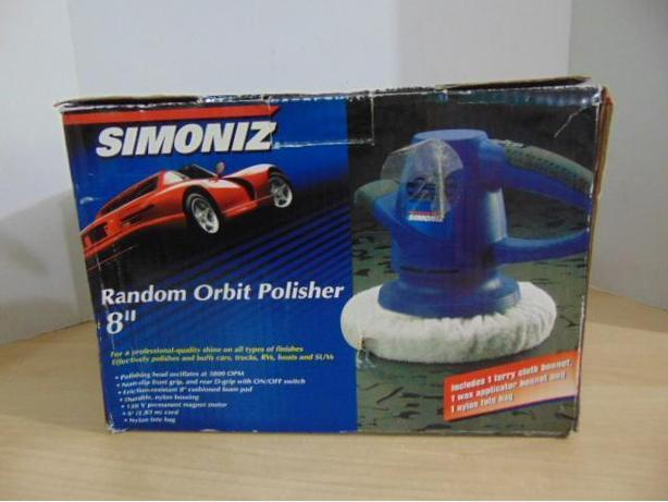 "Simoniz Orbit Polisher 8"" Auto Boat As New"