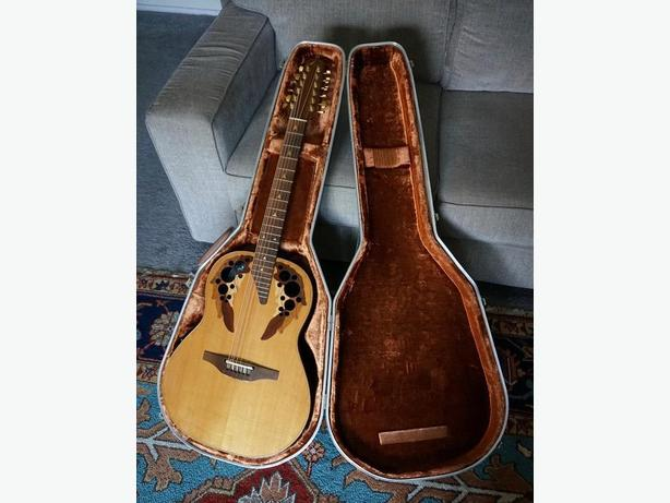 ovation 1980's   Elite   12 string acoustic electric with case