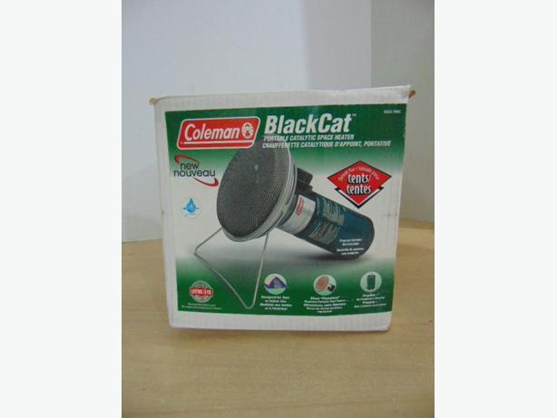 Camping Coleman Blackcat Portable Catalytic Space Heater Excellent Used Once