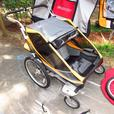 Chariot Cougar 2 Stroller with bike attachment