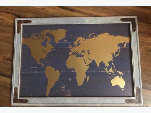 map globe art