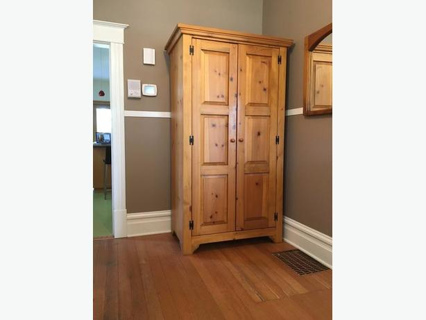 Solid pine wardrobe / armoire