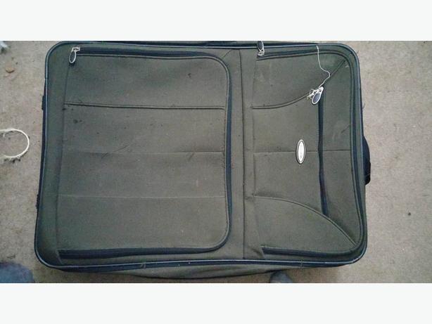 Large green travel bag