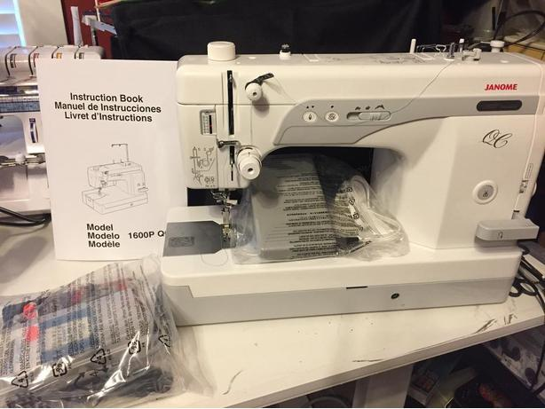 Janome 1600P QC & Inspira Quilting Frame - Trade / OBO Outside ...