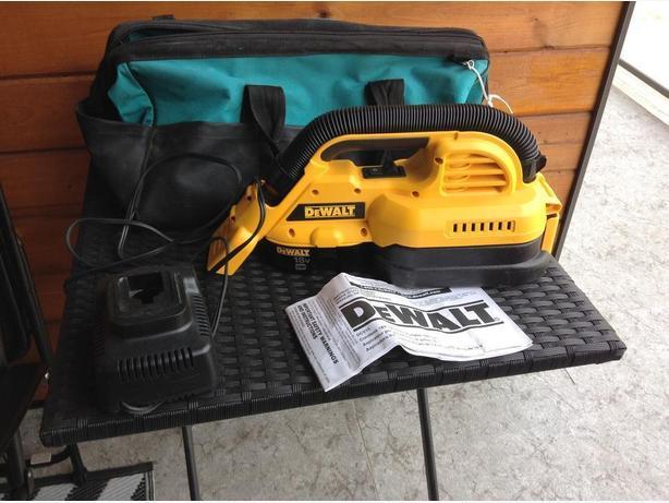 Cordless dewalt 18v vacuume
