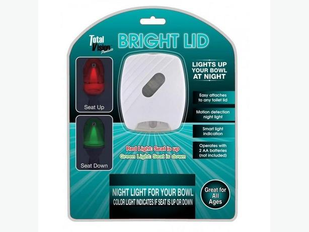 Bathroom Toilet Lid LED Night Light with Seat Up & Down Motion Sensor 3 Lot NEW