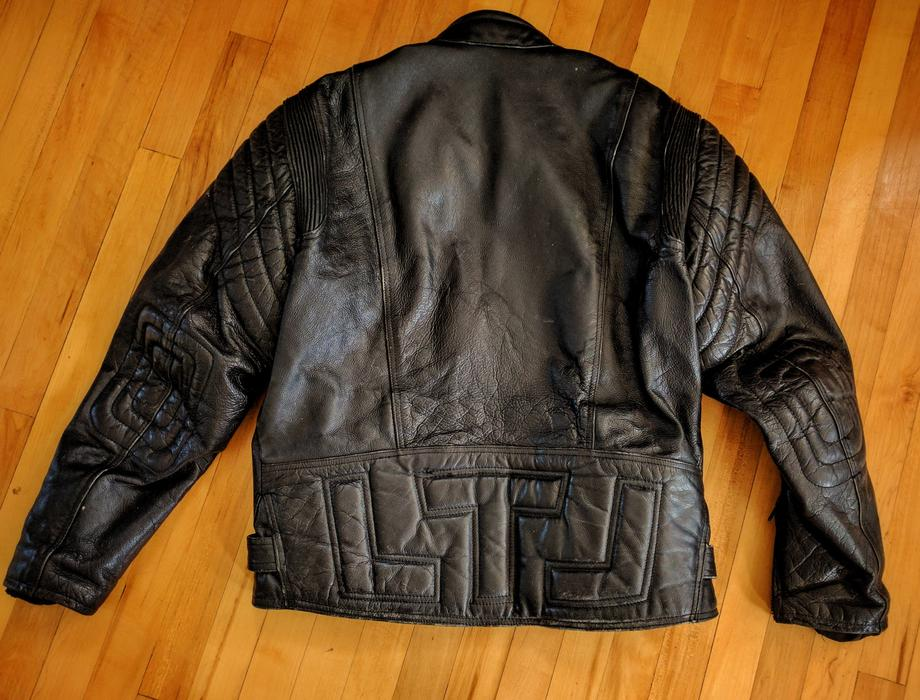 38fdc3d8bee 1980s Akito T Force Cafe Racer Motorcycle Biker Leather Jacket Size 46  Large-XL Victoria City