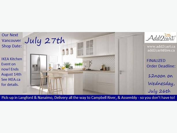 Add2cart.ca Nanaimo | We deliver IKEA |July 27th