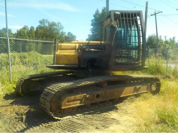 2001 Volvo/Samsung EC290LC/MX295LSM Excavator & Hydraulic Hammer Log Splitter