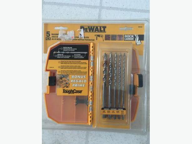 DEWALT 5-Piece Masonry Hammer Bit Set