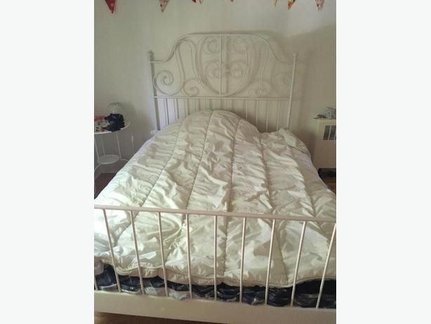 Leirvik Double Bed with Mattress & Memory Foam Topper