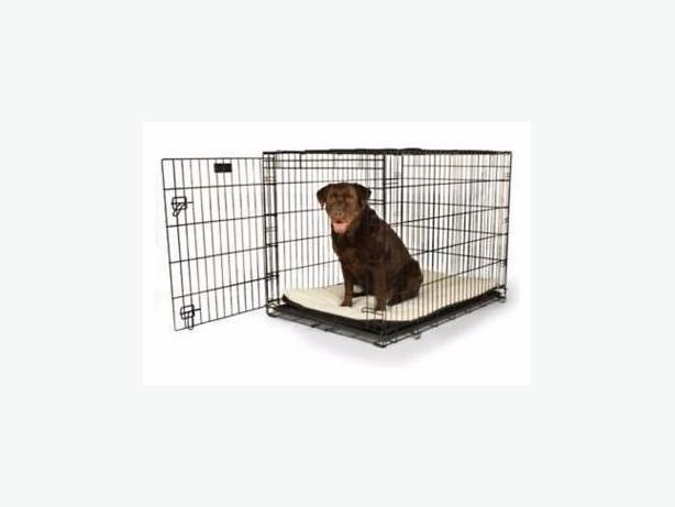 TWO WIRE DOG CRATES FOR SALE - IRON BRIDGE