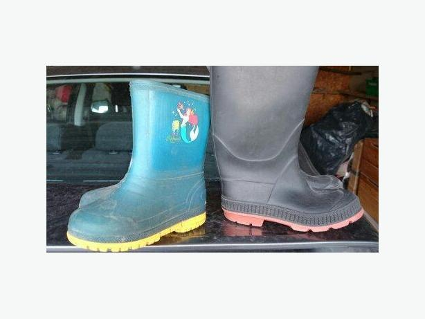 Mermaid Rubber Boots for Toddler size 9