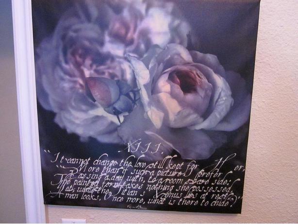Lilacs, Greys and Blacks Canvas~ready to hang