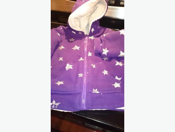 Girls size 7/8 Purple Sheepskin Hoodie-A Child`s Place