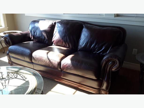Leather sofa and Love seat set