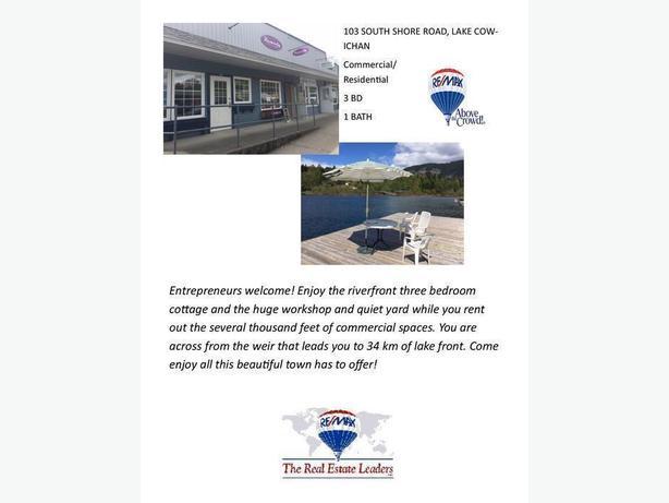 Waterfront property! 103 South Shore Road, Lake Cowichan