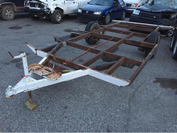 Trailer Frame w/ axle 17 1/2 foot for repair/rebuild /project
