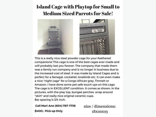 ISLAND CAGE PARROT BIRD CAGE