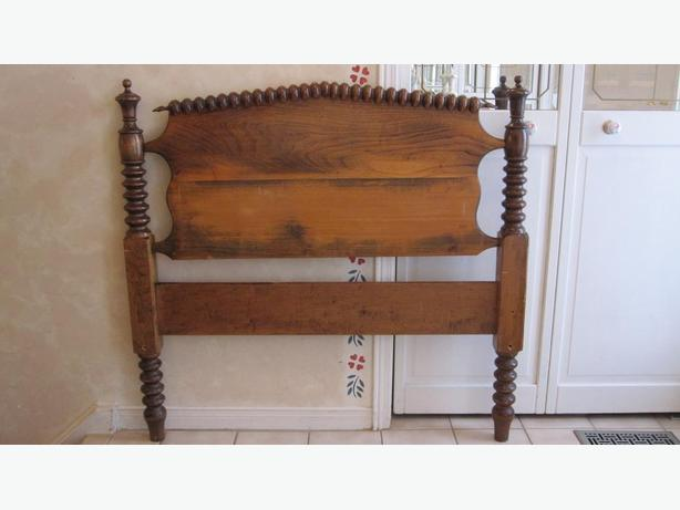 Antique Twin Size Spindle Headboard