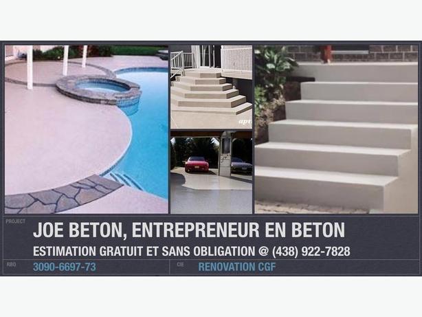 Entrepreneur SPC en Beton | Balcon | Escalier | Dalle