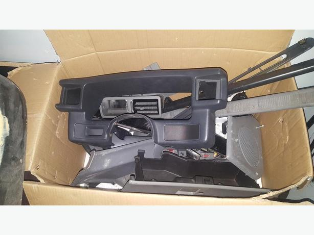  Log In needed $123 · Box of grey foxbody mustang interior parts