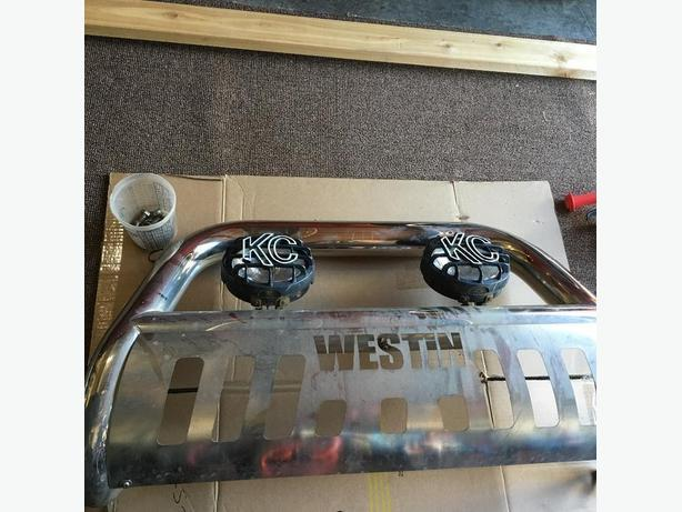 Westin bull bar with new kc lights west shore langfordcolwood bull bar with new kc lights aloadofball Choice Image