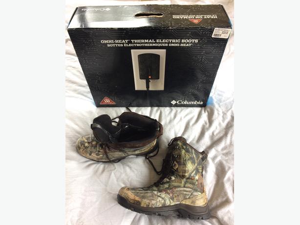 Camo Hunting Boots USA 12/EU 46-2/3- Columbia Omni Heat Electric