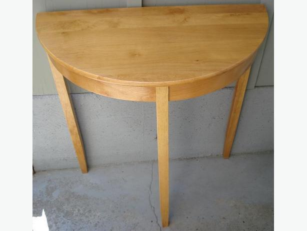 Solid wood half moon table