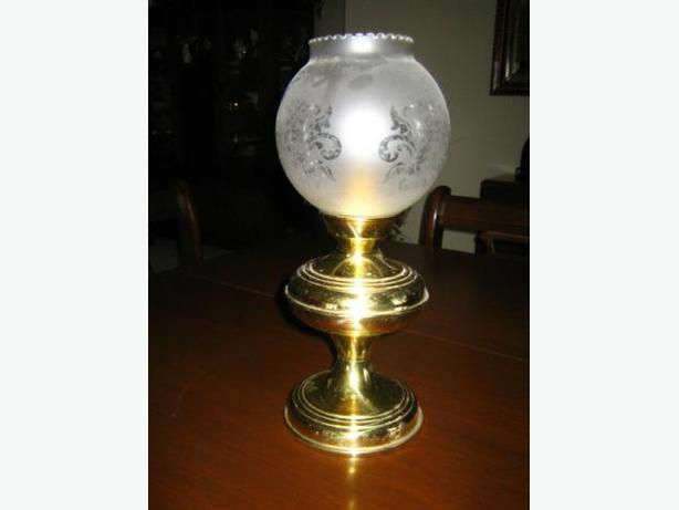 Brass Candle Lamp (spring loaded Follower)