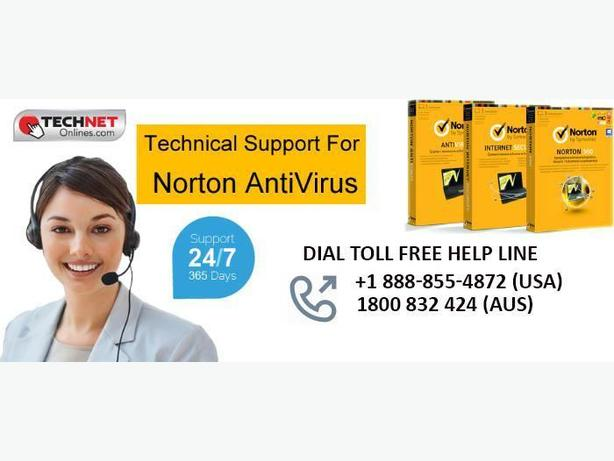 Contact 1-888-855-4872 for Norton Technical Support