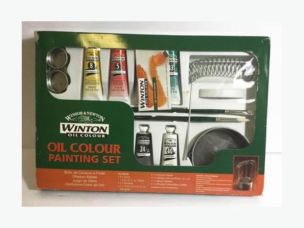 "Oil Color Painting Set ""Winton"" with instruction and a canvas"