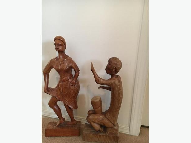 Erotic Original Haitian Wood Carvings