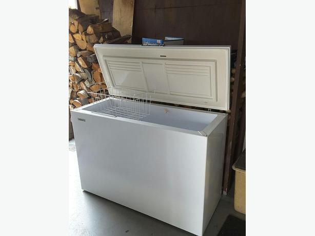 White chest freezer