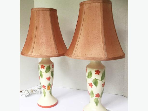 Pair of Lovely Lamps Laurentian made in Canada ---FIRM---